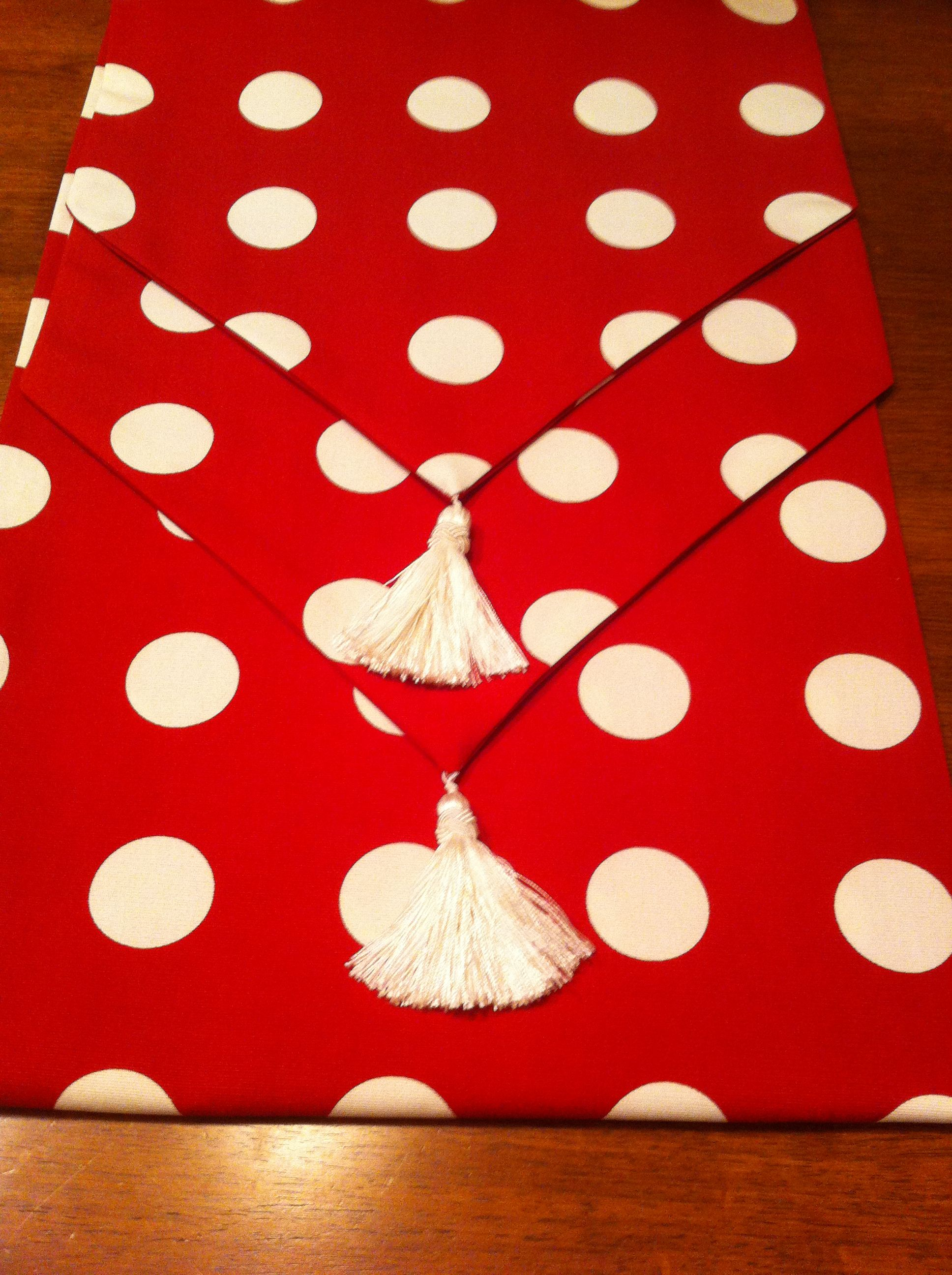 Polka dot with a tassel tail!