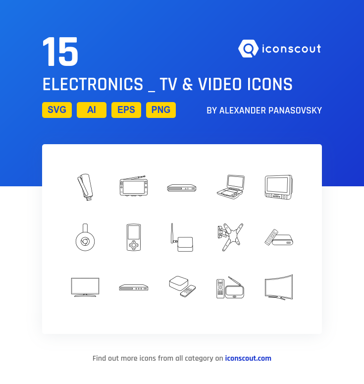Download Download Electronics _ TV & Video Icon pack - Available in ...