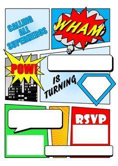 make your own comic book printable superhero comic book party