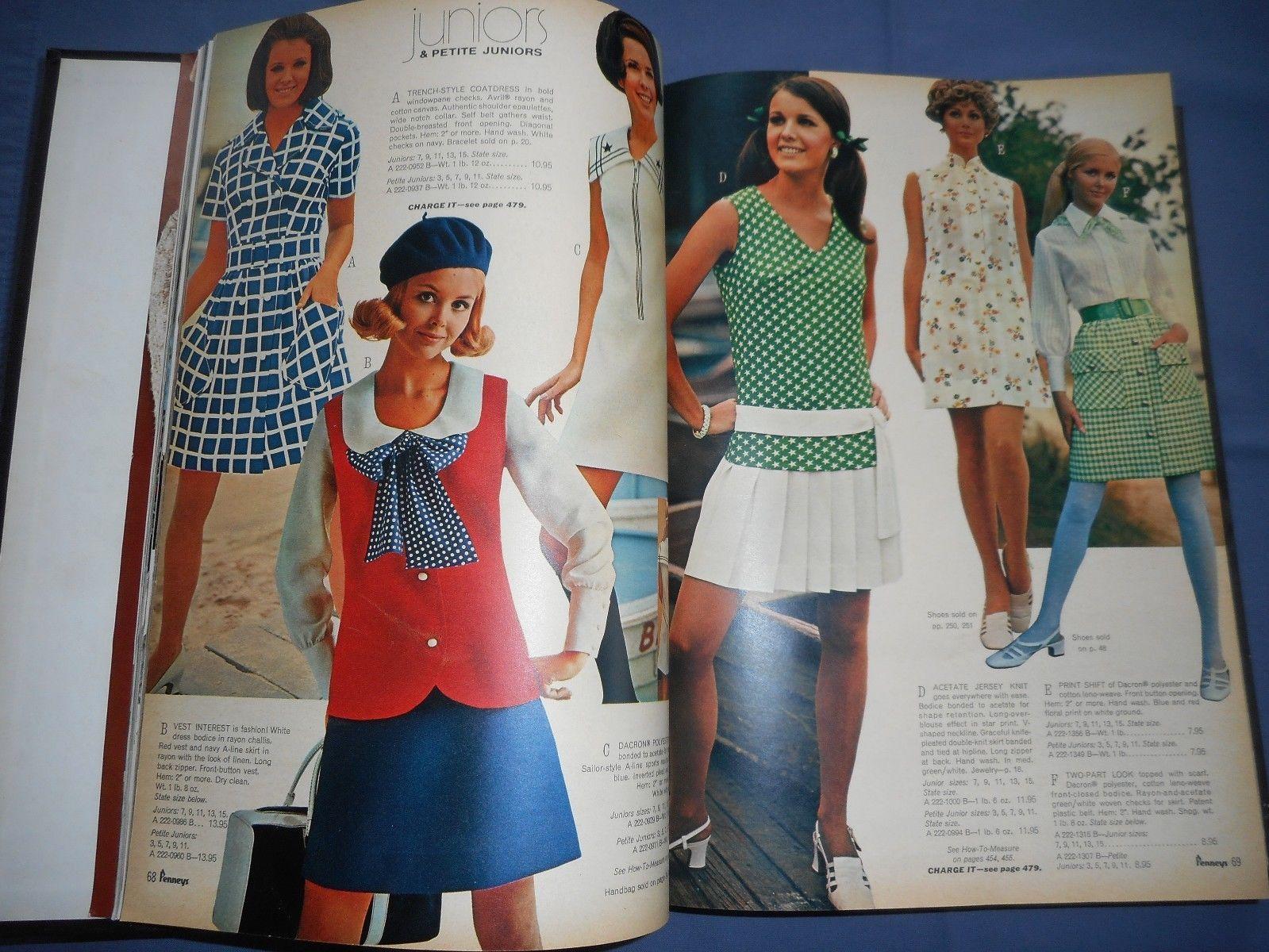 1969 Jc Penneys Spring Summer Catalog Hard Bound Hb Desk Copy