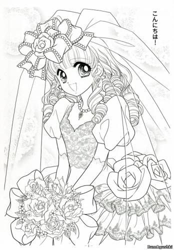 Japanese Shoujo Coloring Book 3