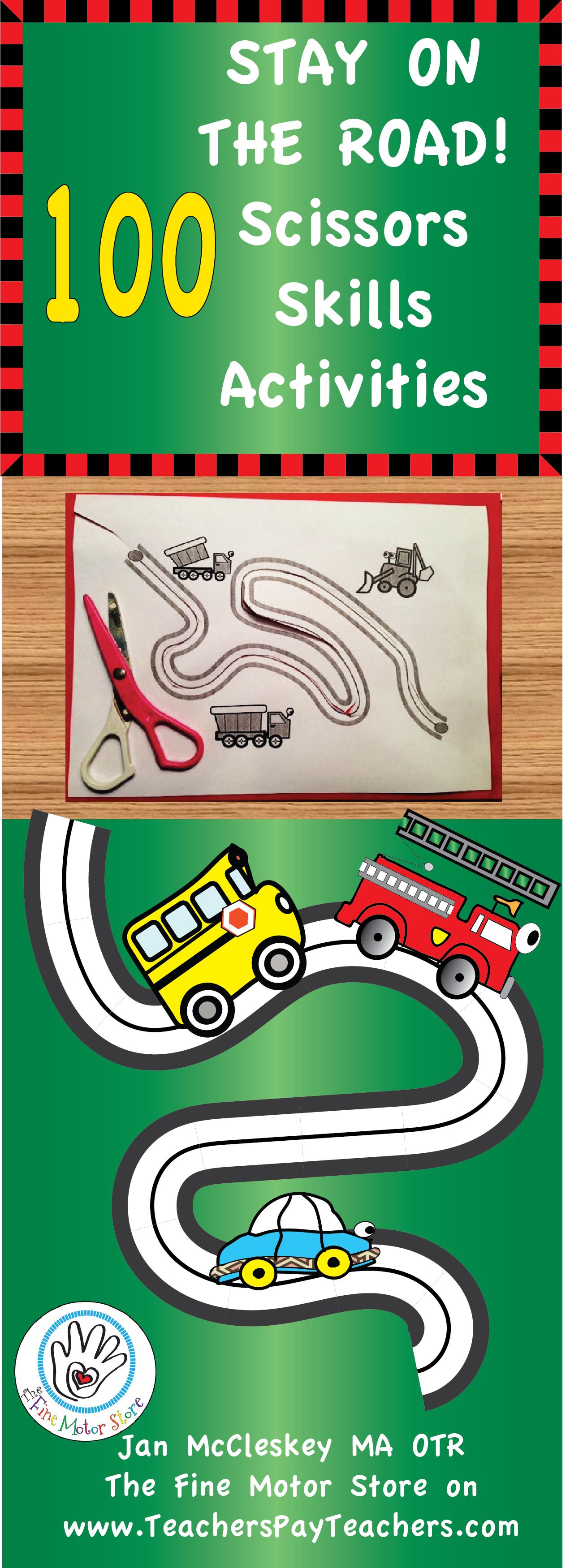 Stay On The Road Scissors Skills For Fine Motor Center