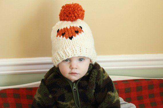 488b6bb7b86 The Friendly Fox Beanie - Knitting Pattern Only - Knit Fox Beanie ...