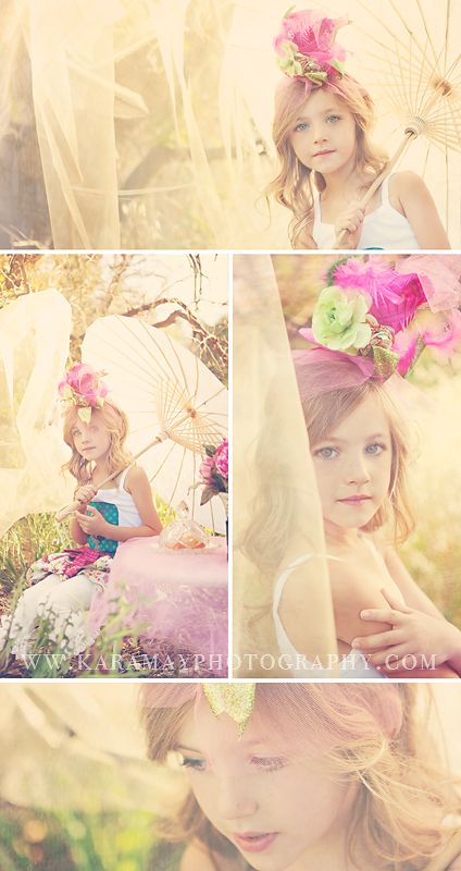 What a pretty summer photo session idea! I love the colors, props, and lighting! Family / Child Photography ♥