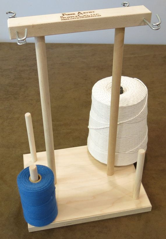 Unfinished 4 Spool Maple Weavers' Yarn Cone Holder #diyyarnholder