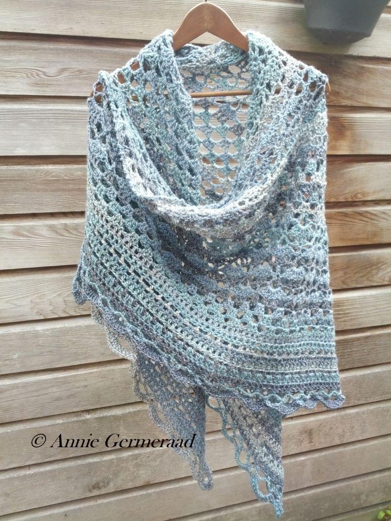 Annyone\'s shawl met Bianca-garen | accessories | Pinterest | Chal ...