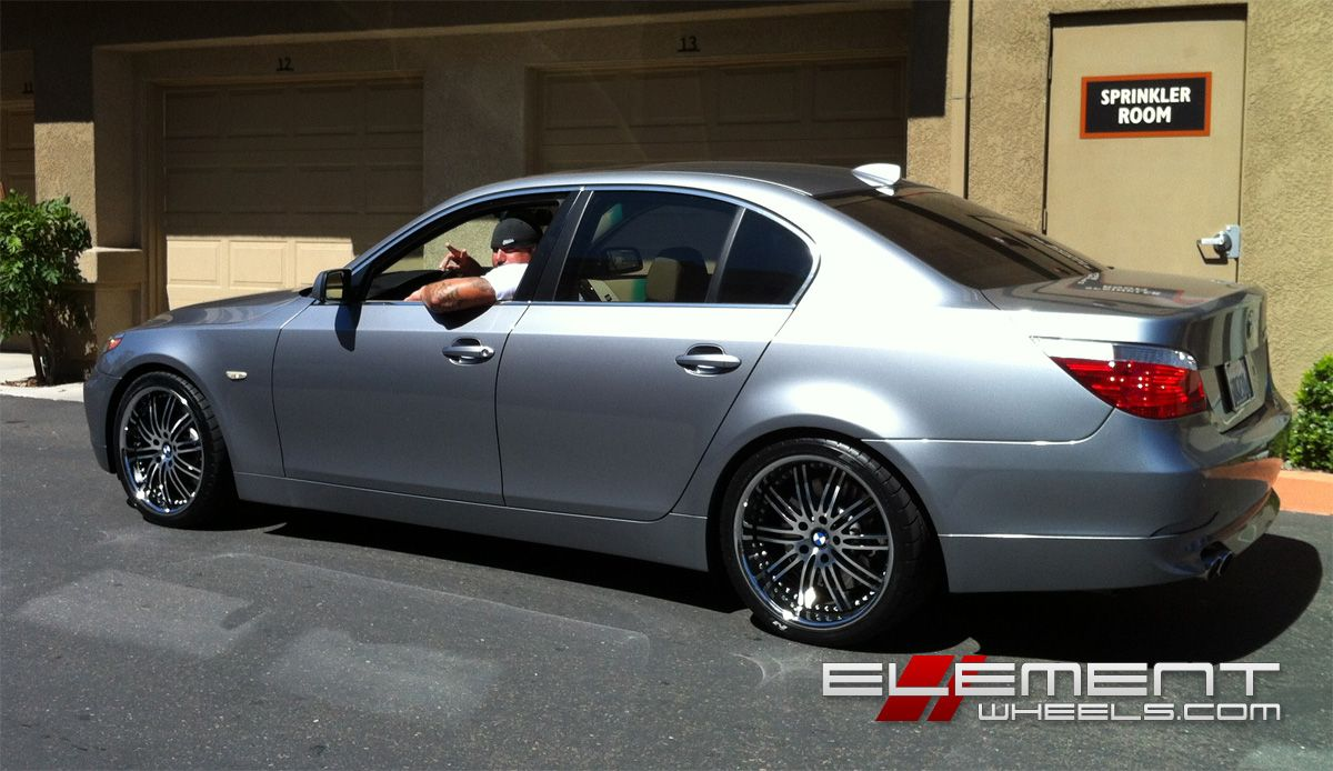 Bmw 5 series with vertini hennessey wheels by element wheels in chandler az click to