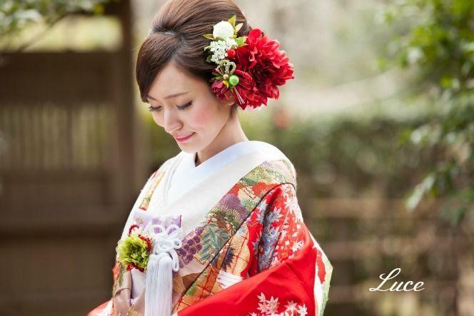 『久しぶりの和装ヘアスタイル撮影』. 結婚式