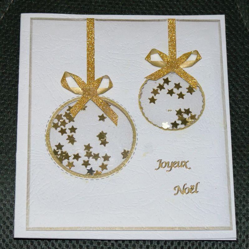 Une carte shaker avec boules de Noël !   La caverne de Monia