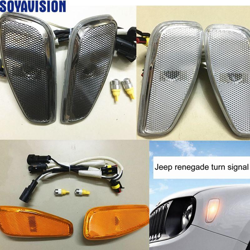 Per Jeep Renegade 2014 2016 Lato Riflessione Warningturn Lampada