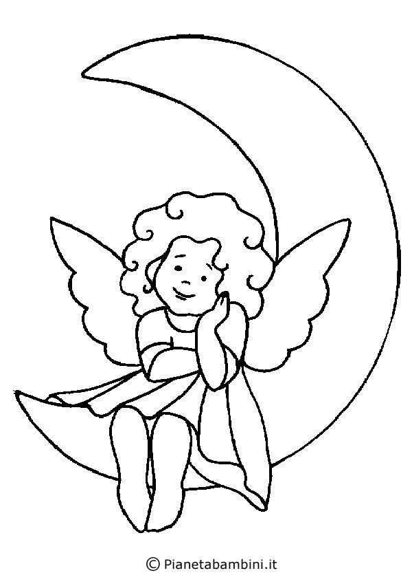 18 disegni di angeli da colorare natale disegni da for Immagini angeli da colorare