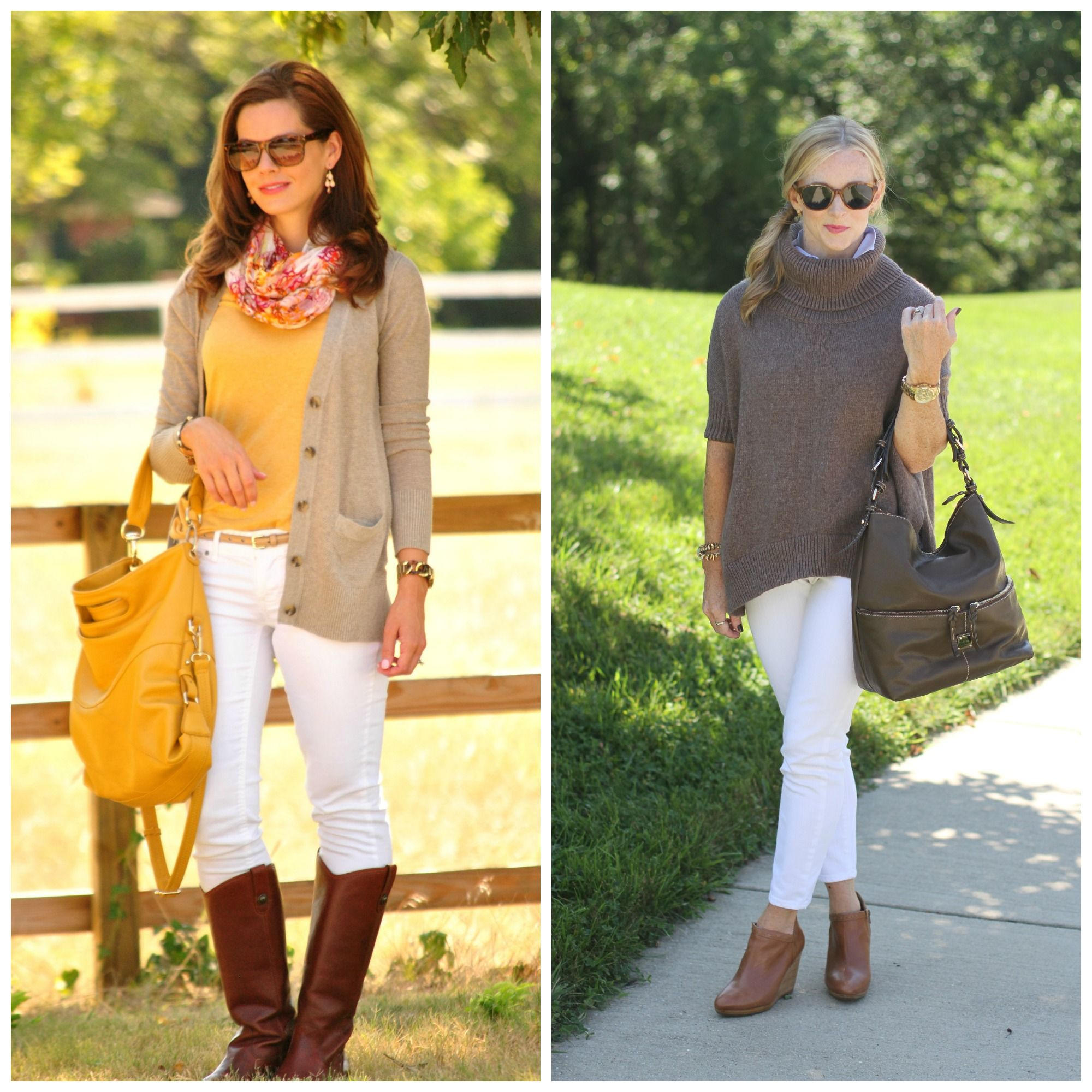 c14bc2d329 Fall Fashion · Fashion Ideas · White Denim · Mom Style · Chic Outfits ·  Just because Labor Day is right around the corner doesn t mean you have to