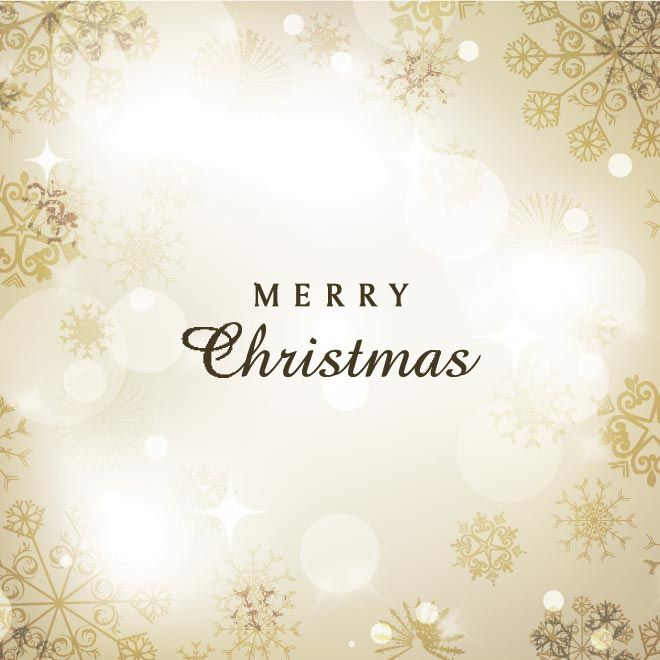 Free Vector Beautiful Golden Merry Christmas Invitation Card