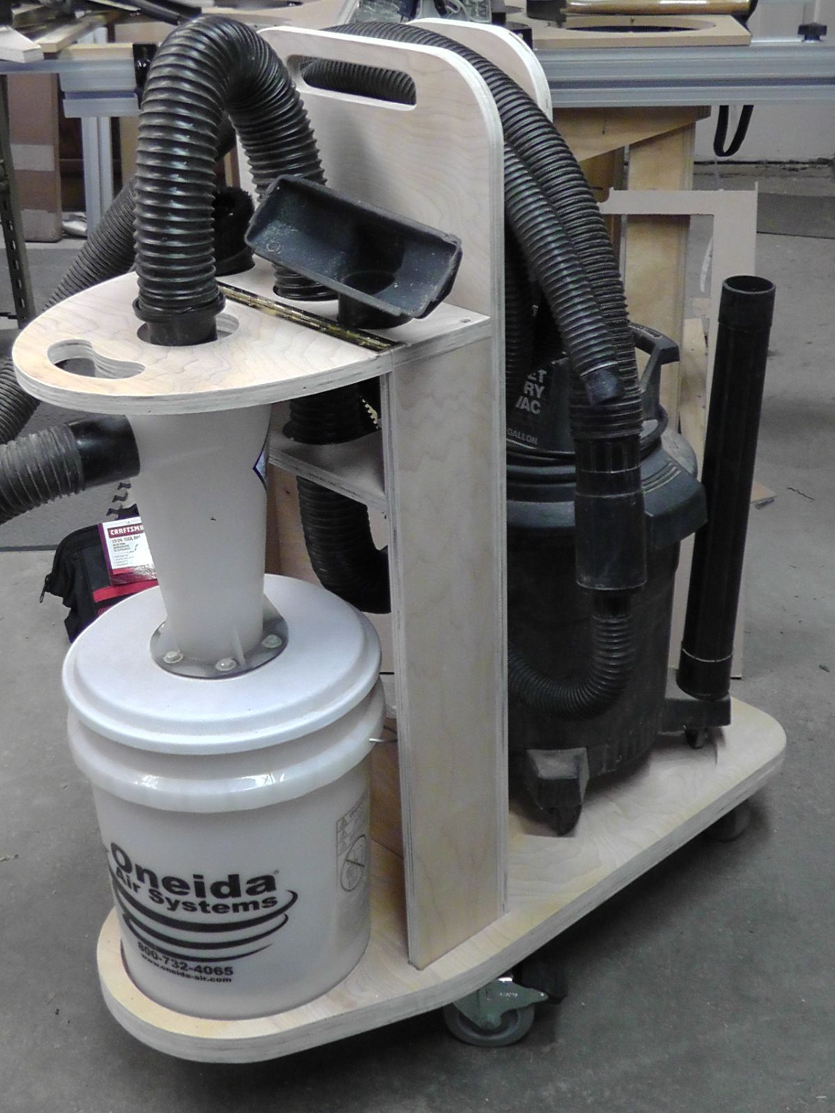 Diy Cnc Project Dust Deputy Cyclone Separator Cart Diy