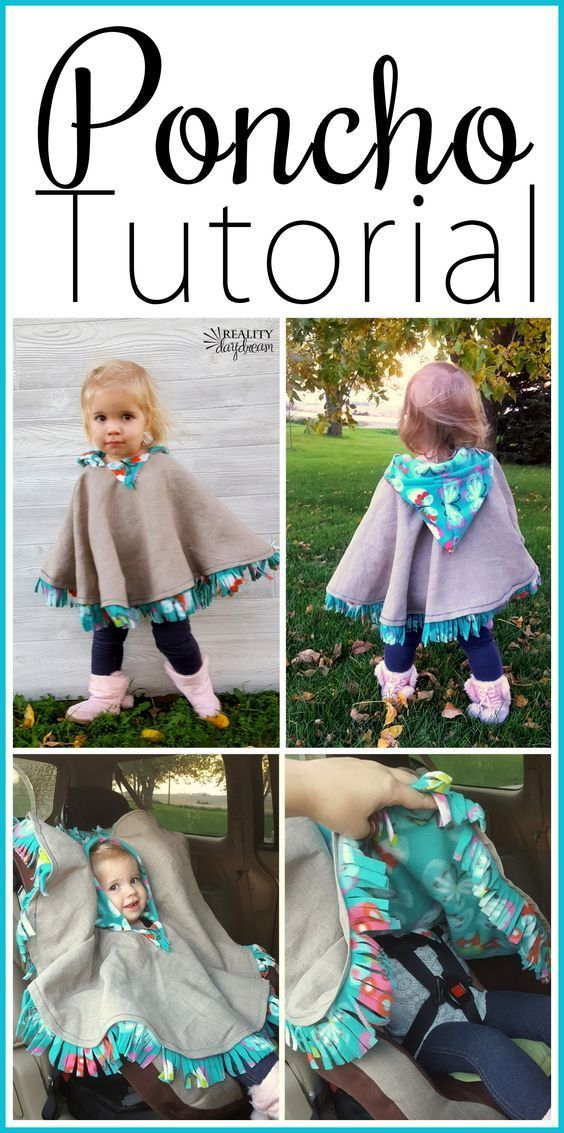 THE BEST Car Seat Poncho Tutorial - Fleece-lined! {Reality Daydream}