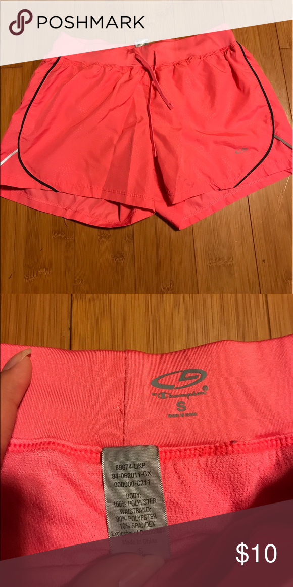 Champion Pink workout shorts Stretchy and super comfortable workout shorts. Only used once Champion Shorts