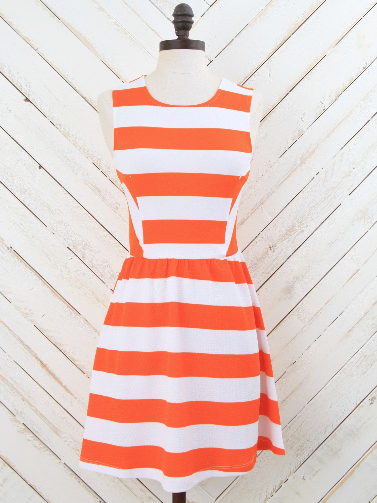 Altar'd State Show Your Stripes Skater Dress | Perfect for #gameday at @UT Knoxville
