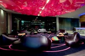 Dark prevails over night: beautiful interior designing for hotel
