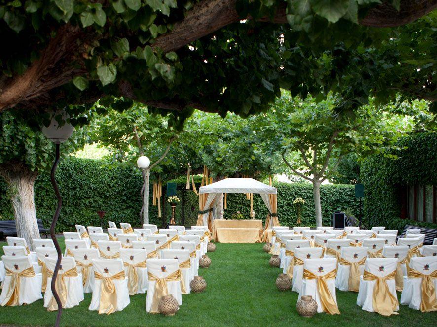 for Adornos boda jardin