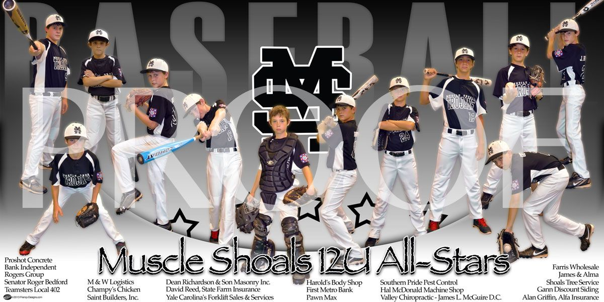 Baseball Team Banners Ideas Print Muscle Shoals 12u All Stars