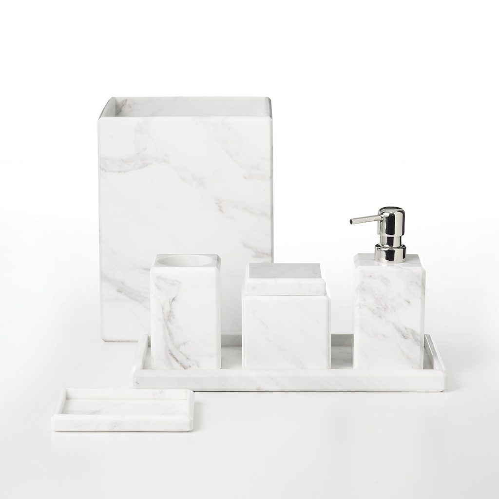 White Marble Bathroom Accessories - Best Home Interior •
