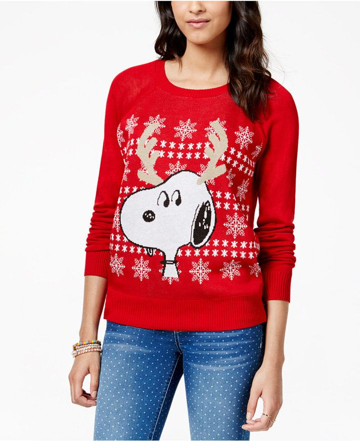 Festive Snoopy Christmas sweater is a fun way to show your love ...