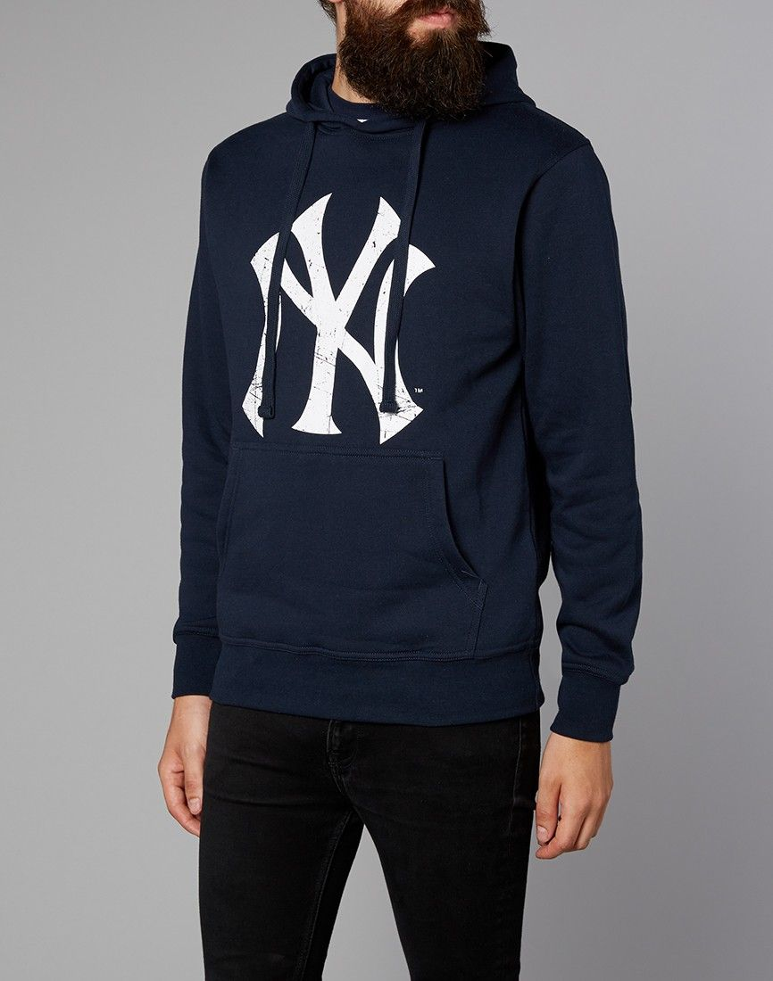f468e80da0110 Majestic Athletic NY Yankees Hoodie Front