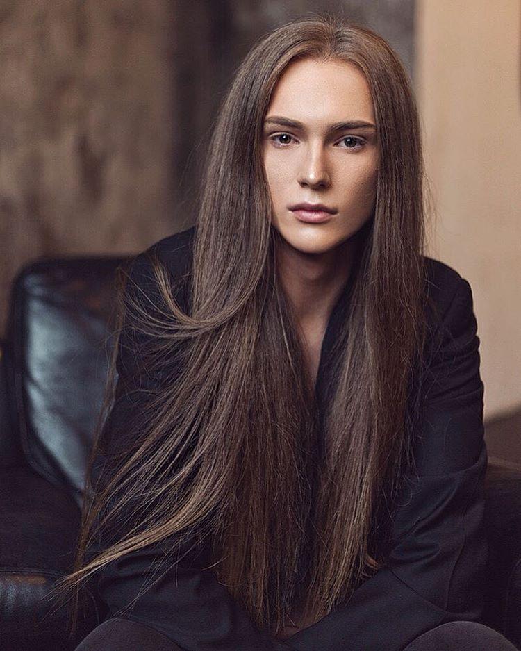 Stas Fedyanin Tumblr Boys Long Hairstyles Long Hair Styles Men Androgynous Models