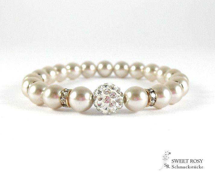 Brautschmuck armband perlen Rosegold Perlen Armband Braut Hochzeit Schmuck | Armband braut ...