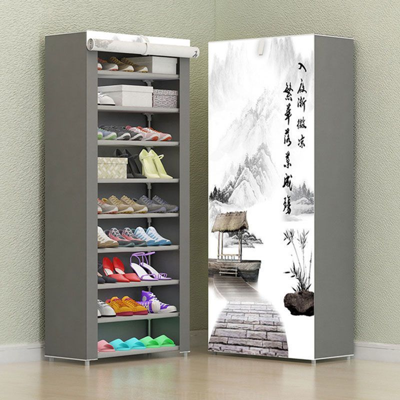 7 Schicht 8 Schicht 10 Schicht Nicht Gewebten Stoff Schuh Rack Folding Fabric Storage Schuhe Rack Diy Staub Bew Shoe Shelf Diy Shoe Rack With Shelf Shoe Shelf