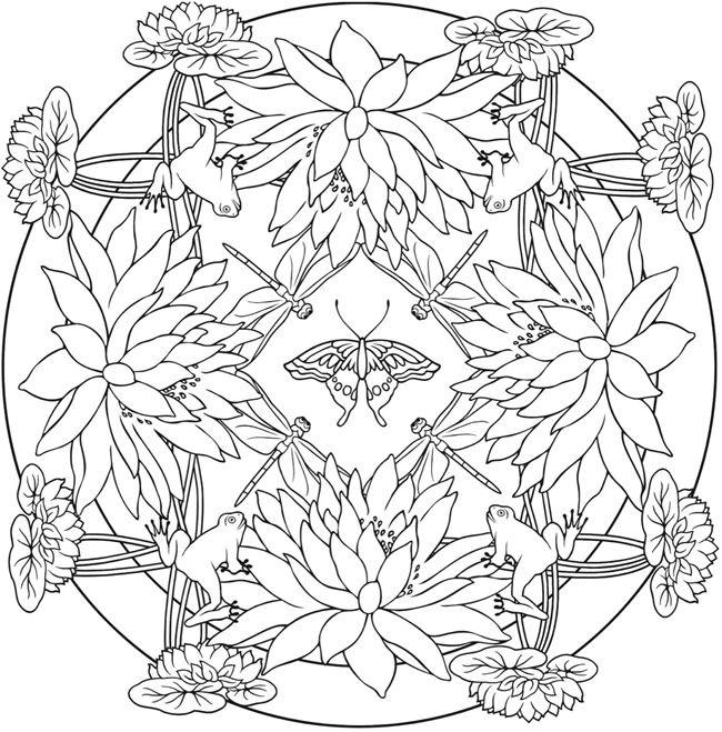 Creative Haven Nature Mandalas Coloring Book Mandala Coloring
