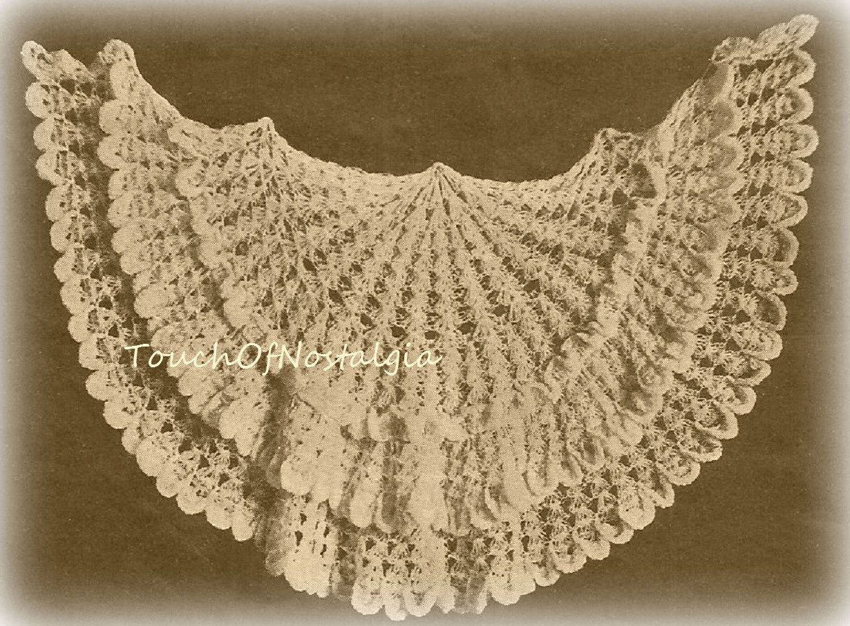 Lacy cape shawl antique crochet patterns edwardian lacy frilled lacy cape shawl antique crochet pattern beautiful edwardian lacy frilled cape shoulder cape bankloansurffo Choice Image