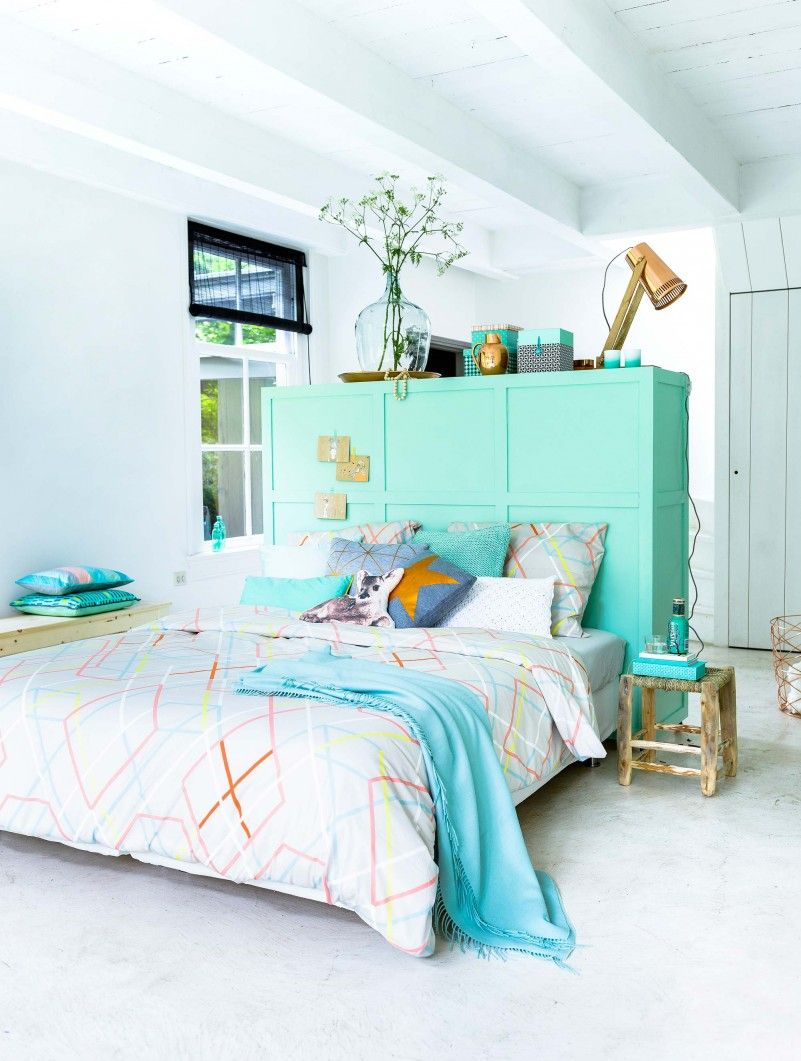 Room Divider, Use 1. Nice Colour Scheme Too. Soft Aqua, White,