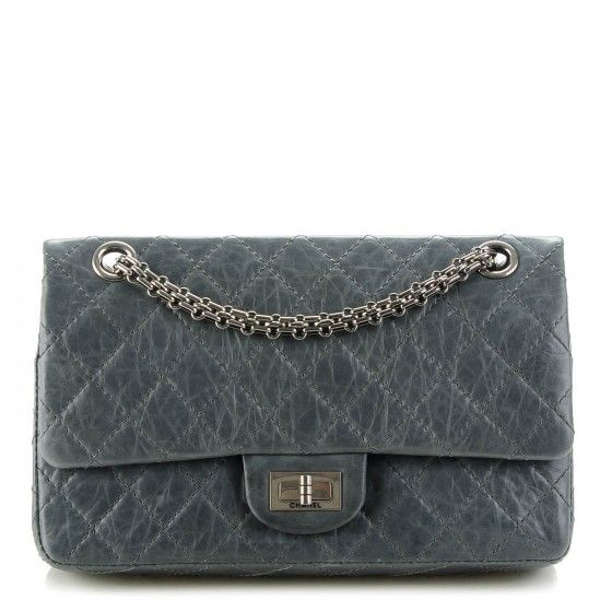 8c6b2c24d35892 CHANEL Aged Calfskin Quilted 50th Anniversary 2.55 Reissue 226 Flap Grey