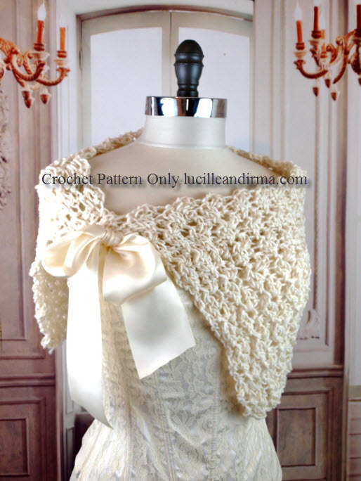 Easy Crochet Pattern Summer Bridal Shawl Wedding Gift Bridesmaids ...