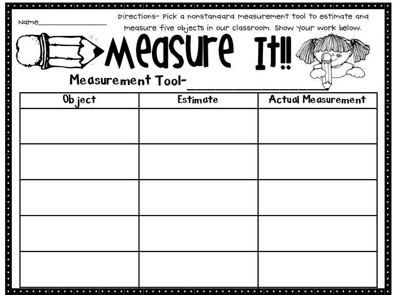 Free printable worksheets for measuring with images