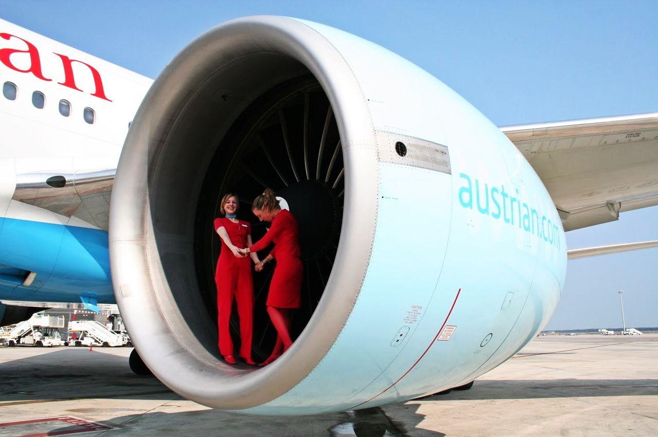 austrian Luftfahrt, Flugbegleiter, Flugzeug