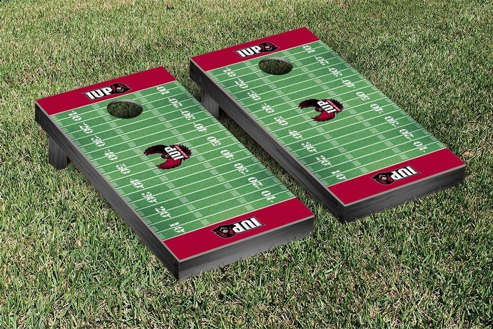 IndianaPennsylvania Crimson Hawks Football Field Cornhole