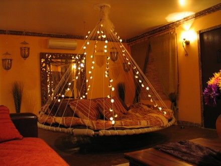 Round Bed Hanging Daybed Indoor Hammock Bed The Floating Bed