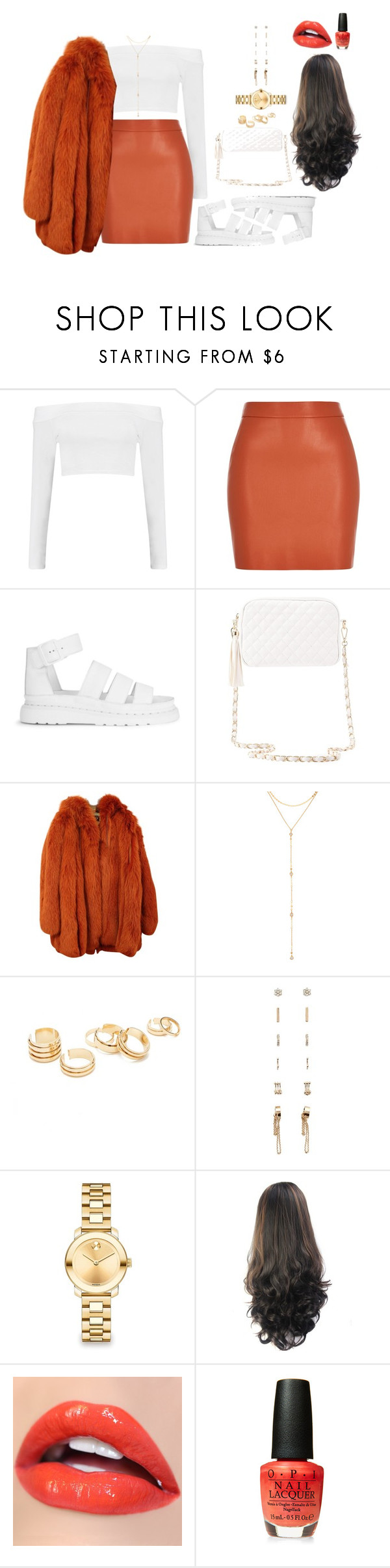 """""""Untitled #2618"""" by mrkr-lawson ❤ liked on Polyvore featuring Boohoo, River Island, Dr. Martens, Charlotte Russe, Dolce&Gabbana, Fragments, Forever 21 and Movado"""