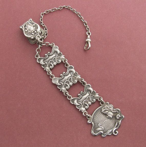Art Nouveau Chatelaine Watch Fob Sterling Silver