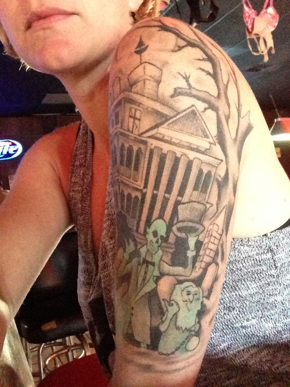 14++ Awesome Haunted house tattoo sleeve image HD