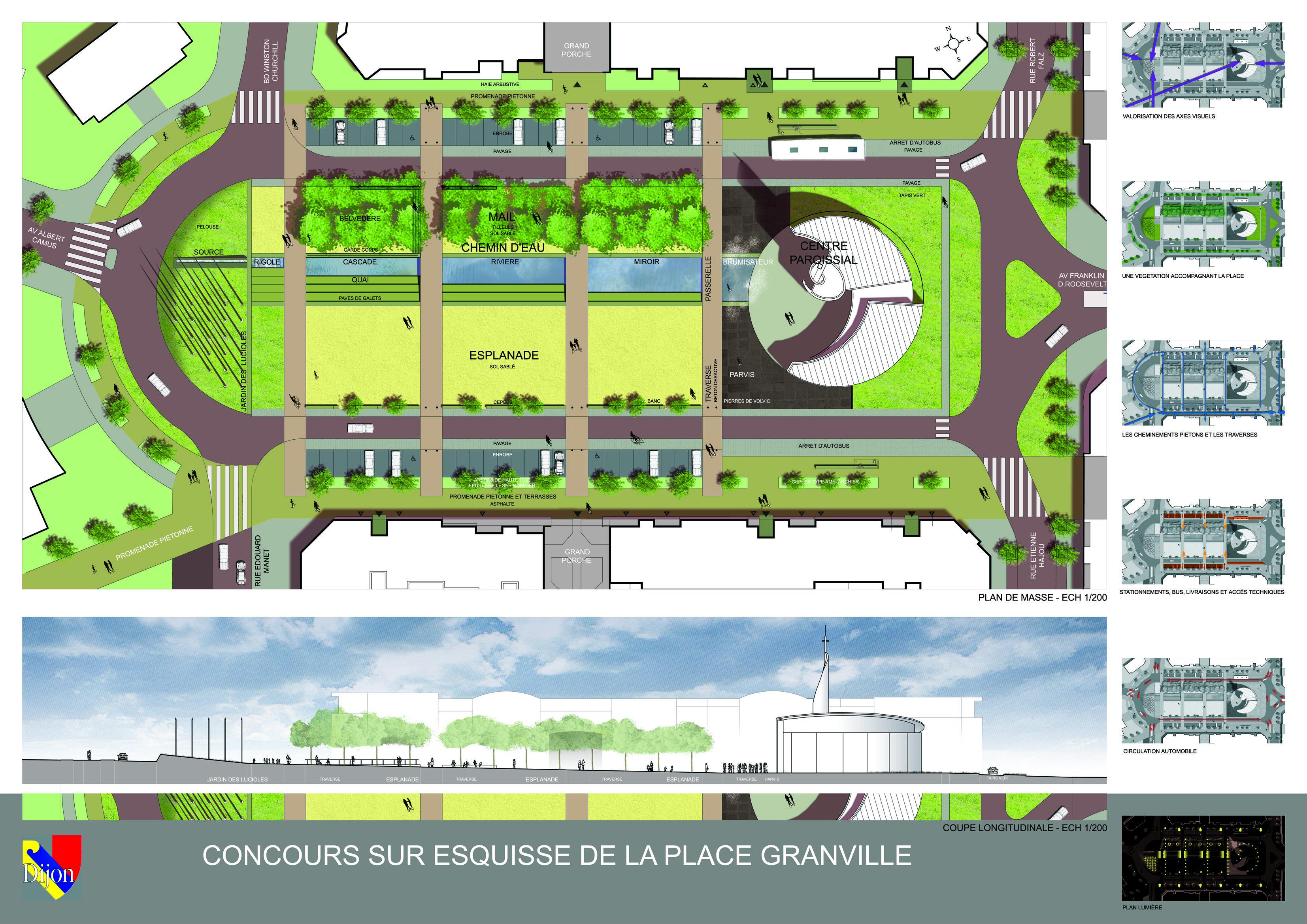 Place Granville, Dijon Concours 2004 Panneau 2