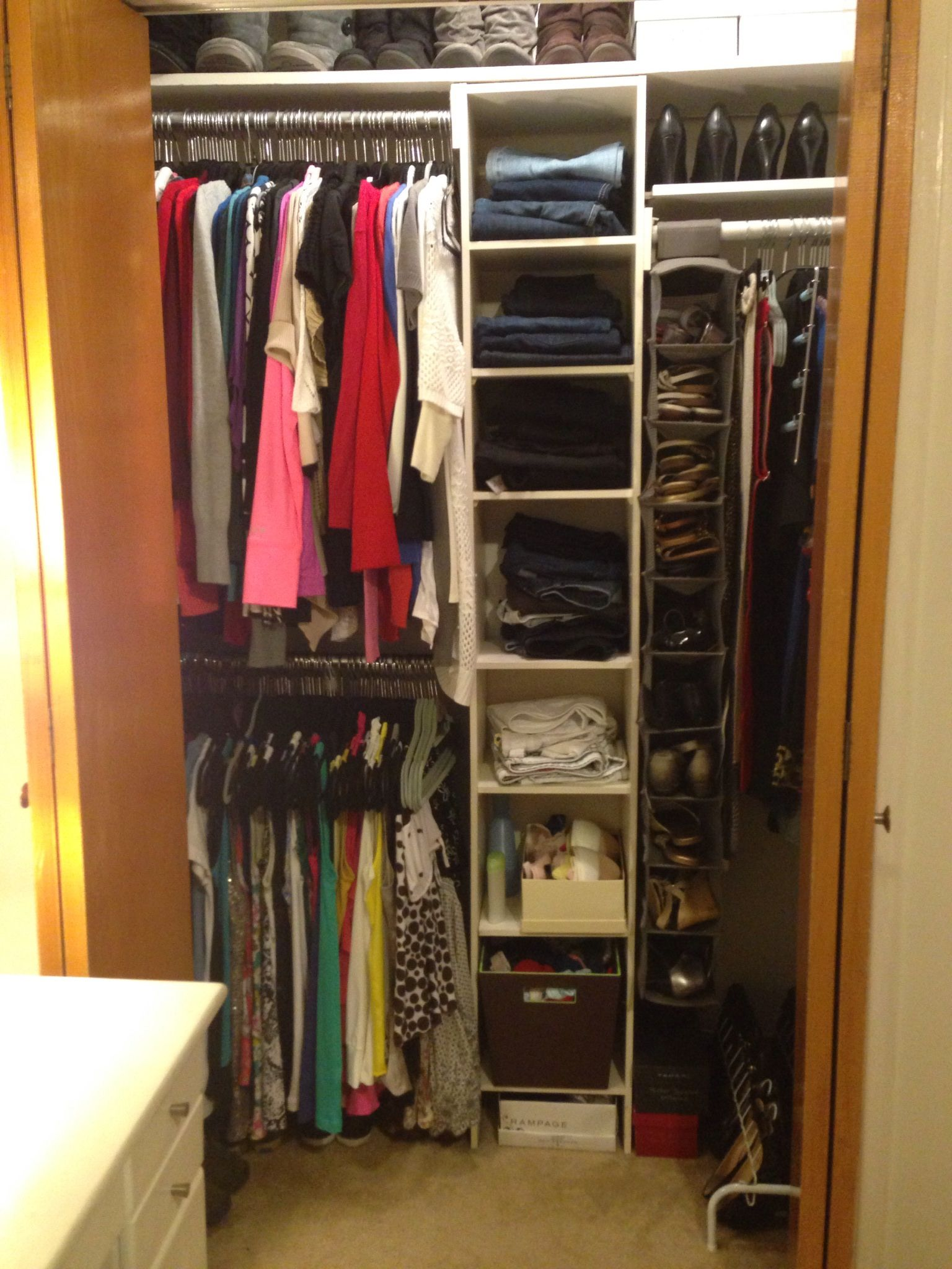 Organized Closet Apartment Closet Organization Closet Apartment Small Closets