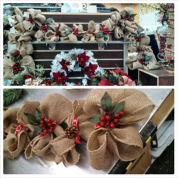 kaylamichaels lisbon ct burlap christmas garland simple but one of my favorites that ive made - Michaels Christmas Garland