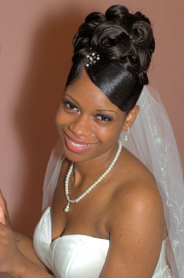 Peachy 1000 Images About Wedding Hair On Pinterest Black Women Hairstyles For Women Draintrainus