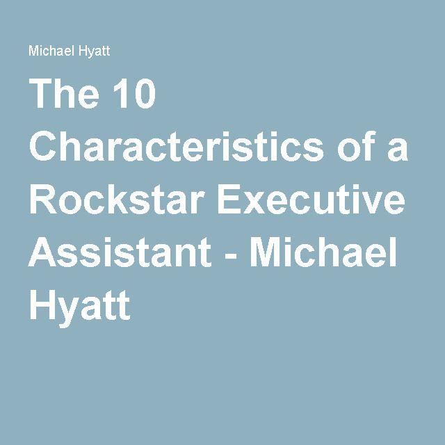 The 10 Characteristics of a Rockstar Executive Assistant ...
