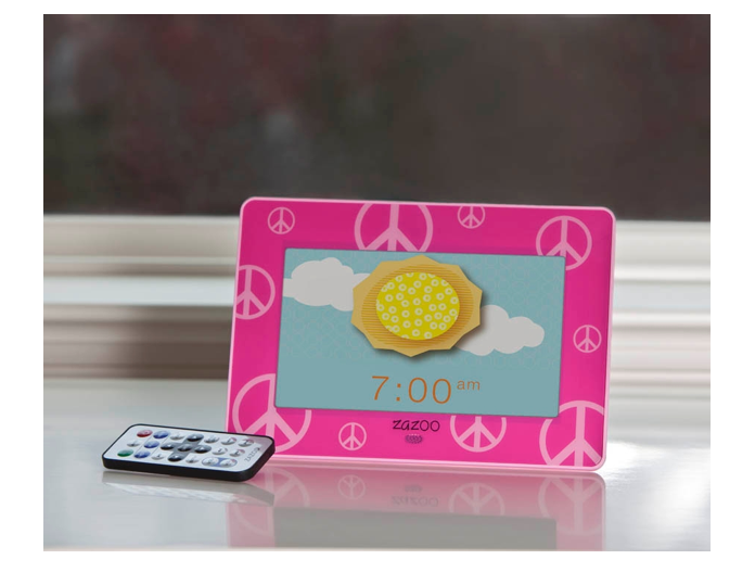 The ZAZOO photo clock is the perfect for kids who get of
