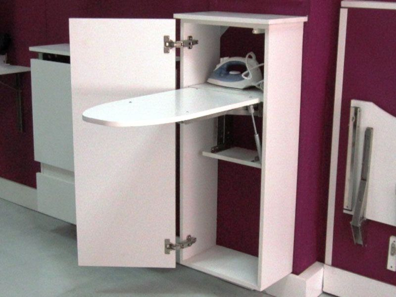 Mueble con tabla de planchar plegable 1 tableros para for Mueble tabla planchar