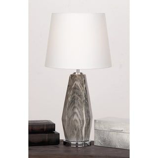 Shop For Urban Designs Diana Grey/Ivory Ceramic Glazed Diamond Shaped Table  Lamp.